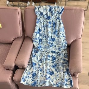 NWOT strapless maxi dress